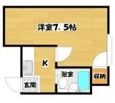 長居駅 1K 2階