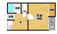 長居駅 1DK 2階