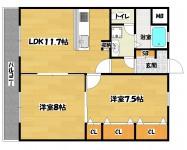 長居駅 2LDK 3階