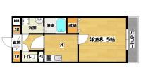 長居駅 1K 3階