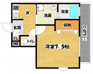 長居駅 1K 5階
